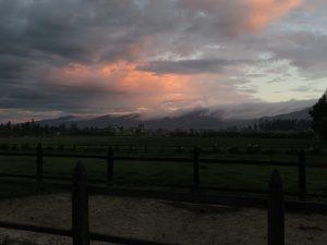 Sonnenuntergang in Cajamarca