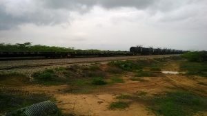 es gibt einen Gueterzug zum Kohletransport von der Grenzstadt Maicao zum Hafen ganz im NO