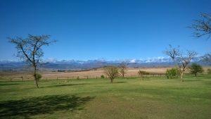 Schnee auf den Drakensbergen